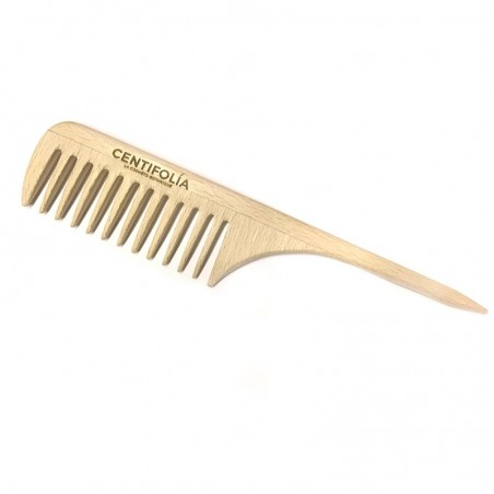 Wooden comb with rat tail