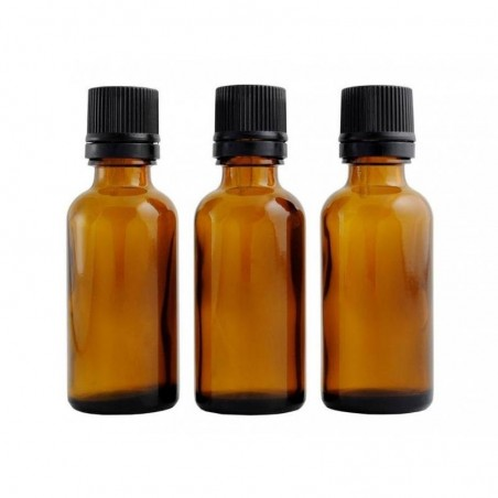 Pack of three 30ml amber bottles with dropper