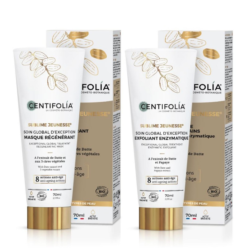 Achat Exception global treatment enzymatic exfoliant and regenerating mask duo Centifolia