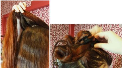 Séparation des cheveux en fines mèches pour l'application du henné